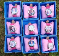 Wholesale Frozen Frozen Anna Elsa Sets Watch and Wallet Purse Kids Fashion Watches FROZEN children watch box children birthday gift Wristwatches