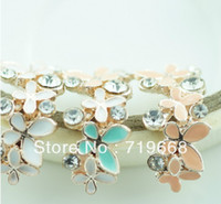 Quilt Accessories Metal Combined Button Free Shipping!50pcs lot (LO-050 17*22MM) 3colors rhinestone enamel button wedding embellishment hair bow crafting DIY accessory