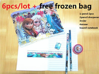 Wholesale Kids learning items Frozen stationery set for Students Office amp School Supplies Frozen Pencil Cases Frozen Bags Frozen Ruler Frozen Pencils