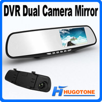 "Cheap Promotion 4.3"" Full HD 1080P Car DVR Mirror Dual Camera GPS Rear view Blue Mirror 5.0MP CMOS Lens Recorder PIP Display+Night Vision+G-sensor"