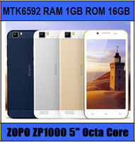 Octa Core Android Zopo Original ZOPO ZP1000 Mtk6592 Octa Core Smart Cell phone 5inch IPS 5mp+14mp Camera 1.7GHZ CPU android 4.2 RAM 1GB ROM 16GB