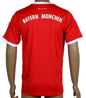 Wholesale FC Bayern Munich Home Red Soccer Jerseys Top Thai Quality Customized Football Club Jersey Shirts Size S to XL