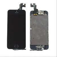 For Apple iPhone LCD Screen Panels  Black LCD Display+Touch Screen Digitizer Assembly Replacement for iPhone 5S +free shipping