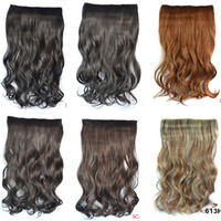 Wholesale One Piece Fast Shipping Clips In Synthetic Hair Extension G Colors In Stock Hair Synthetic Hairpieces ombre hair extension