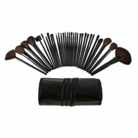 eyebrow shadow - 1set Professional Makeup Eyebrow Shadow Cosmetic Brush Set Kit With Pouch