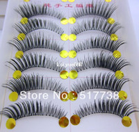 Wholesale Pair Thick False Eyelashes Mink Eyelash Lashes Voluminous Makeup Tail Winged
