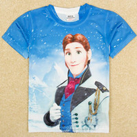 Wholesale 5pcs Nova children boys summer cartoon tops frozen short sleeve milk silk tees Hans Sven Olaf boys cartoon T shirts