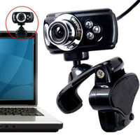 Wholesale NEW USB M LED Web Cam Webcam hd digital Camera with MIC CD for Computer PC Laptop