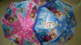 Wholesale fashion Kids Umbrella Frozen Princess Cute Rain Gear Elsa Anna Princess Beautiful Cartoon Tutu umbrella