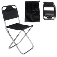 Wholesale New Portable Folding Chair Aluminum Camping Fishing Chair with Backrest Carry Bag Black Folding Chairs CAT6703
