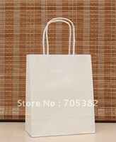 Paper Recyclable ss-482 18x15x8cm, Elegant White Paper gift bag, Small size, Kraft gift bags with handle, Excellent Quality,Wholesale (SS-482