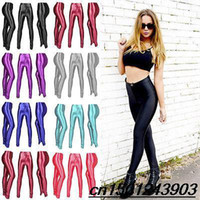 Foot Cover Women Lycra Spandex New spring 2014 Solid candy Neon leggings for women High waist Stretched punk legging pants fitness clothing leggins plug size