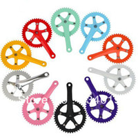 Freewheel Fixed Gear Bikes Yes 44T aluminum crankset, track cycling specific, dead fly crankset bicycle