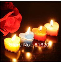 Wholesale 6 Colors Heart Shaped Romantic Art Candle Wedding Decoration