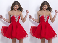 2014 Stunning A- Line Cocktail Dresses Sweetheart Short Sleev...