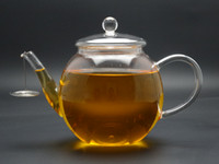 Glass teapots - 1Pc fl oz ml hand made Classic European Design Glass Blooming Tea Flower tea Teapots with Glass Strainer Filter