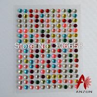 Wholesale mm Sheets sheets Self Adhesive Diamante Stick On Rhinestone Gems DIY Rhinestone Sticker Mixed Color