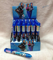 Wholesale New Popular Color Children Cartoon Ballpoint Pen FROZEN ELSA ANNA Automatic Pen Student Gift Office Stationery