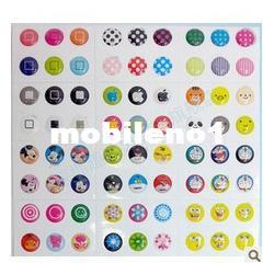 Wholesale HOT SALE Home Button Stickers for iPhone s iPad iTouch DIY phone decoration