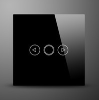 Cheap Touch Control Light Lamp Dimmer Glass Switch Panel Switches 1 Gang 1 way with LED Backlight,Black & White