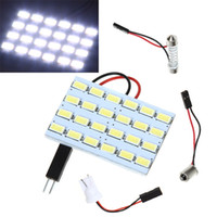 Wholesale 5Pcs SMD LEDs Led Car Light Bulb Interior Vehicle White LED Light for Car Interior with Adapters K756