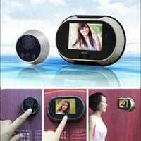 Wholesale 3 inch TFT LCD Pinhole Peephole Digital Door Eye Camera Viewer Doorbell Don t Disturb Function Video Peephole Door Bell H10686