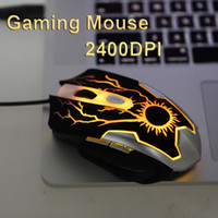 Wholesale Cool Design Colors LED Game Mice Adjustable DPI Buttons Optical USB Wired Gaming Mouse for PC Laptop Computer C1891