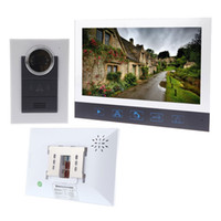 Wholesale 7 quot Intercom System for Home Villa Touch Key TFT LCD Color Video Door Phone System Doorbell Night Vision Take Photo Viewer Lens bell H10668