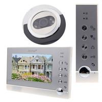 Wholesale 7 quot TFT LCD Color Video Doorphone Doorbell Intercom System with IR Camera Night Vision for Villa Home Apartment Door bell H10692