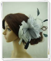 Wholesale color fascinator hair accessories nice sinamay hats bridal hair accessories cocktail hats party headwear pieces DH20