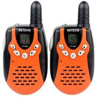 plastic flashlight - Retevis RT Orange Child Kid Toy Walkie Talkies UHF W CH For Kid Children LCD Display Flashlight VOX A7120A