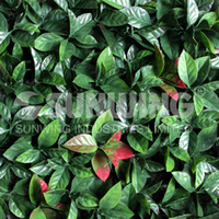 Wholesale 3 sqm fake foliage leaves green artificial orange leaves for artificial garden plant decoration X25cm G0602A002A