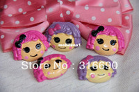 Yes CUTE mixed Wholesale-Wholesale Hair Lalaloopsy Resin Cabochon Flatbacks Scrapbooking Hair Bow Embellishment DIY 10pcs lot (mixed two colours)