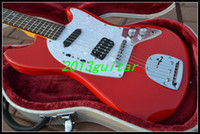 jaguar - 2014 OEM China Guitar New Style cherry burst st Jaguar Guitar one piece neck No Scarf
