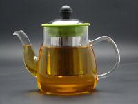 teapots - 1Pc fl oz ml pyrex glass teapot with stainless steel filter blooming tea flower tea special teapot
