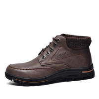 Cheap Ankle Boots Genuine Leather Boots Best Snow Boots Men Fleece Thermal boots