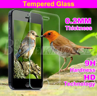 Verre trempé 10 en 1 paquet pour Iphone 7 Plus Iphone 6S Plus 5S Samsung S7 Note 5 G530 LG G5 Protecteur d'écran
