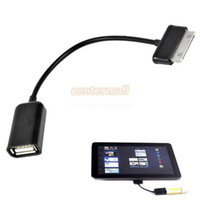 Wholesale USB OTG Host Cable Connection Adapter for Samsung Galaxy Tab Plus Black
