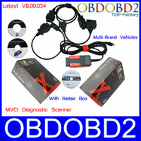 Code Reader For BMW Autel English Language Professional OBDII Scanner MVCI Version V8.00.034 M-VCI Reprogramming Tool+Retair Box For TIS HDS Volvo Lexus