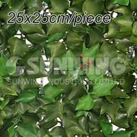 Wholesale SGS certificate artificial plant ivy hedges cm outdoor garden fencing fake leaves artificial hedge G0602A005A