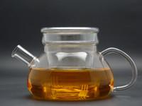 Wholesale 1Pc fl oz ml handicraft heat resisting glass green black jasmine teapots coffee tea pot set with infuser and glass lid