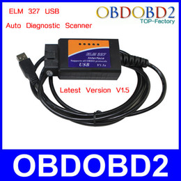 Wholesale Professional Auto Diagnostic Scan Tool ELM USB Car Diagnosis Scanner ELM327 Usb Interface V1 Advanced CAN BUS Update By CD