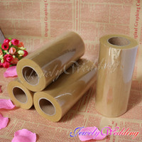 Wholesale 4Pcs quot x25 yd high quality Gold tulle roll for wedding room decoration