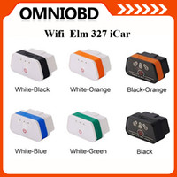 Wholesale 2014 Fast Shipping Original Vgate WiFi iCar OBDII ELM327 iCar2 wifi vgate OBD diagnostic tool for IOS iPhone iPad Android PC