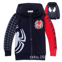 Jackets zipper hooded jacket - Spider Man Childre s Cartoon Hooded Casual Coat Boy Long Sleeve Outerwear Zipper Jacket Kids Clothing Jacket S0617