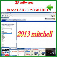 Wholesale 23 softwares Alldata Mitchell esi Q1 Q2 moto heavy truck ETK2013 ETKA with gb HDD by fedex free