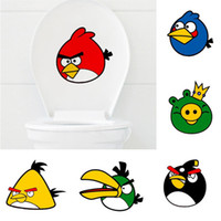 Wholesale Fashion Cute birds Toilet Sticker wall sticker Home Decor Bathroom Decor