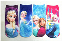 Wholesale 2014 new arrive frozen socks Frozen cartoon socks boat socks Children short socks style lovely children socks size L