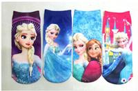 cartoon socks - 2014 new arrive frozen socks Frozen cartoon socks boat socks Children short socks style lovely children socks size L