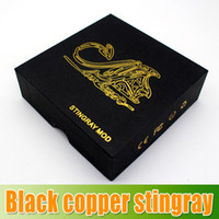 Wholesale Super Black Stingray Mod Copper Black Clone by Infinite Mechanical Mod Rebuildable e cig Trident V2 Dripping Atomizer Airflow C waitingyou